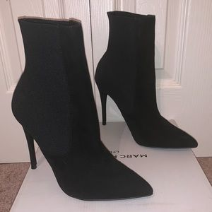 Steve Madden Black Suede Ankle Booties